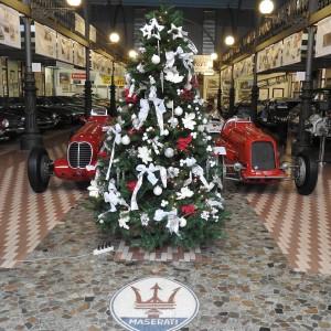 Christmas tree and Maserati racing cars