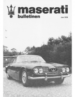 Maserati Club Sweden Bulletin 1978-1