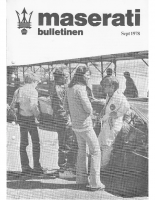 Maserati Club Sweden Bulletin 1978-2