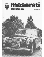 Maserati Club Sweden Bulletin 1978-3
