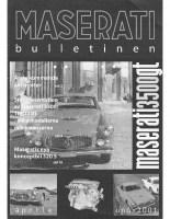 Maserati Club Sweden Bulletin 2001-1