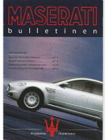 Maserati Club Sweden Bulletin 2003-1