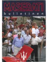 Maserati Club Sweden Bulletin 2006-2 (Arkitektkopia)