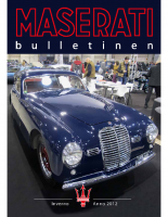 Maserati Club Sweden Bulletin 2012-2
