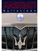 Maserati Club Sweden Bulletin 2013-1