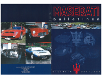 Maserati Club Sweden Bulletin 2000-1