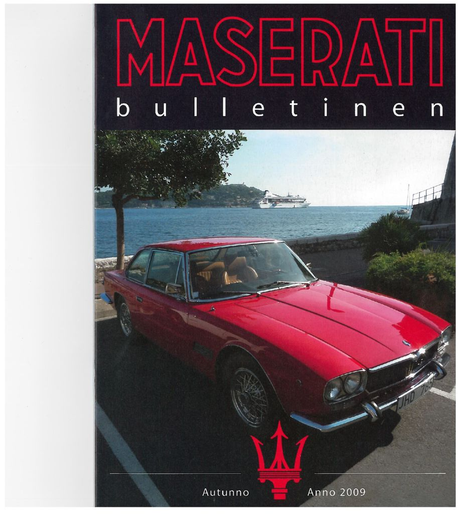 thumbnail of Maserati Club Sweden Bulletin 2009-2